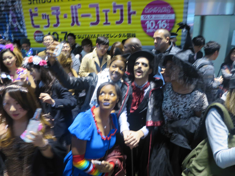 渋谷ハロウィン - 仮装した外人