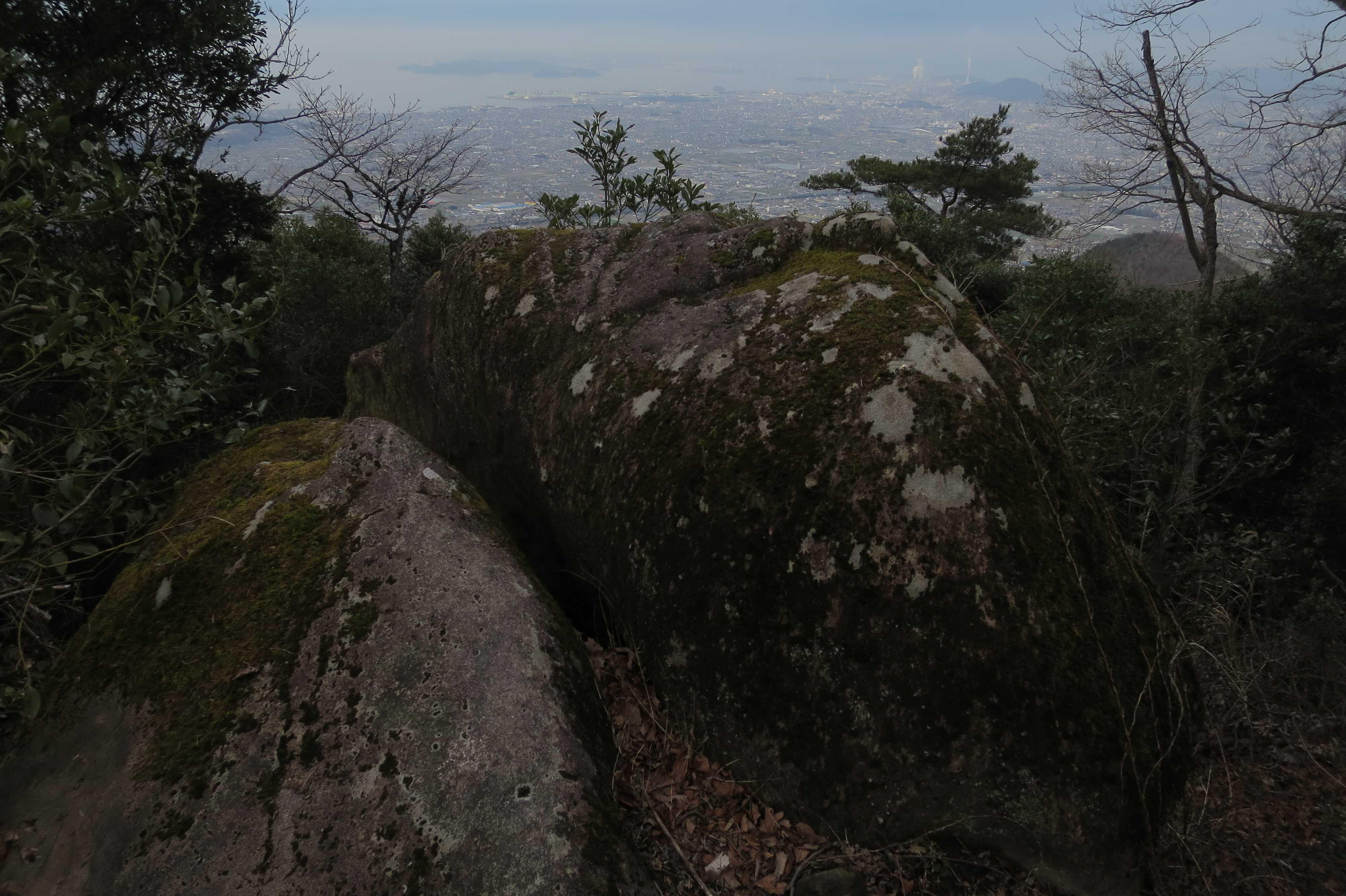 我拝師山の頂上 - 捨身ヶ嶽禅定