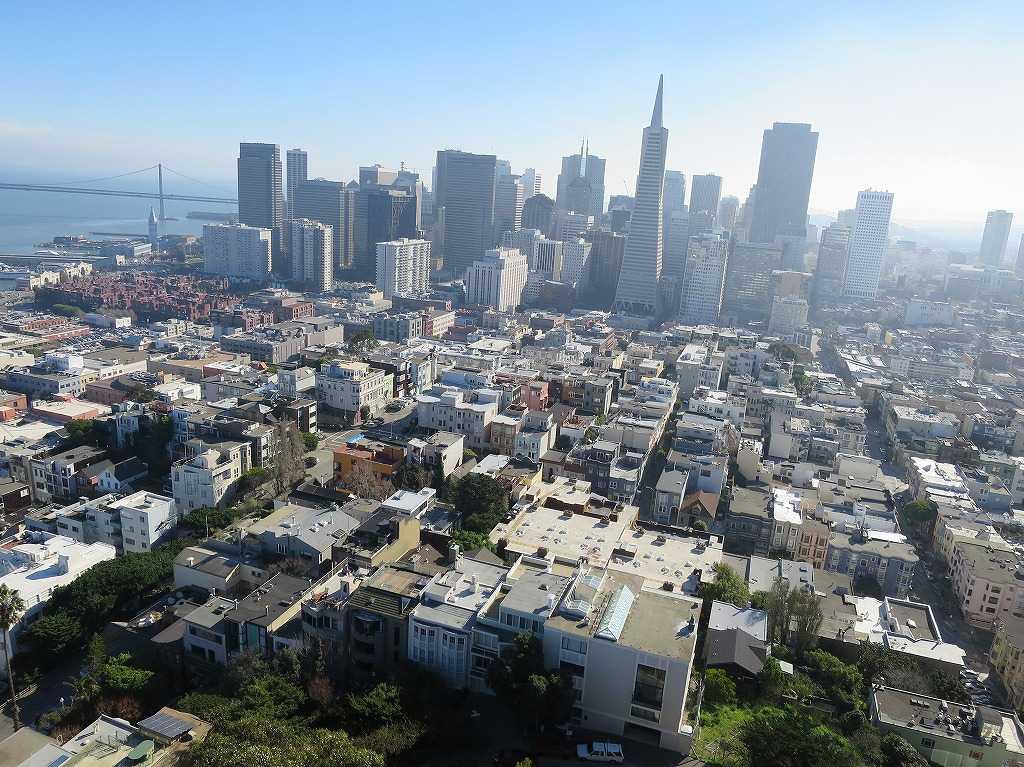 コイトタワー頂上から見えたサンフランシスコの街