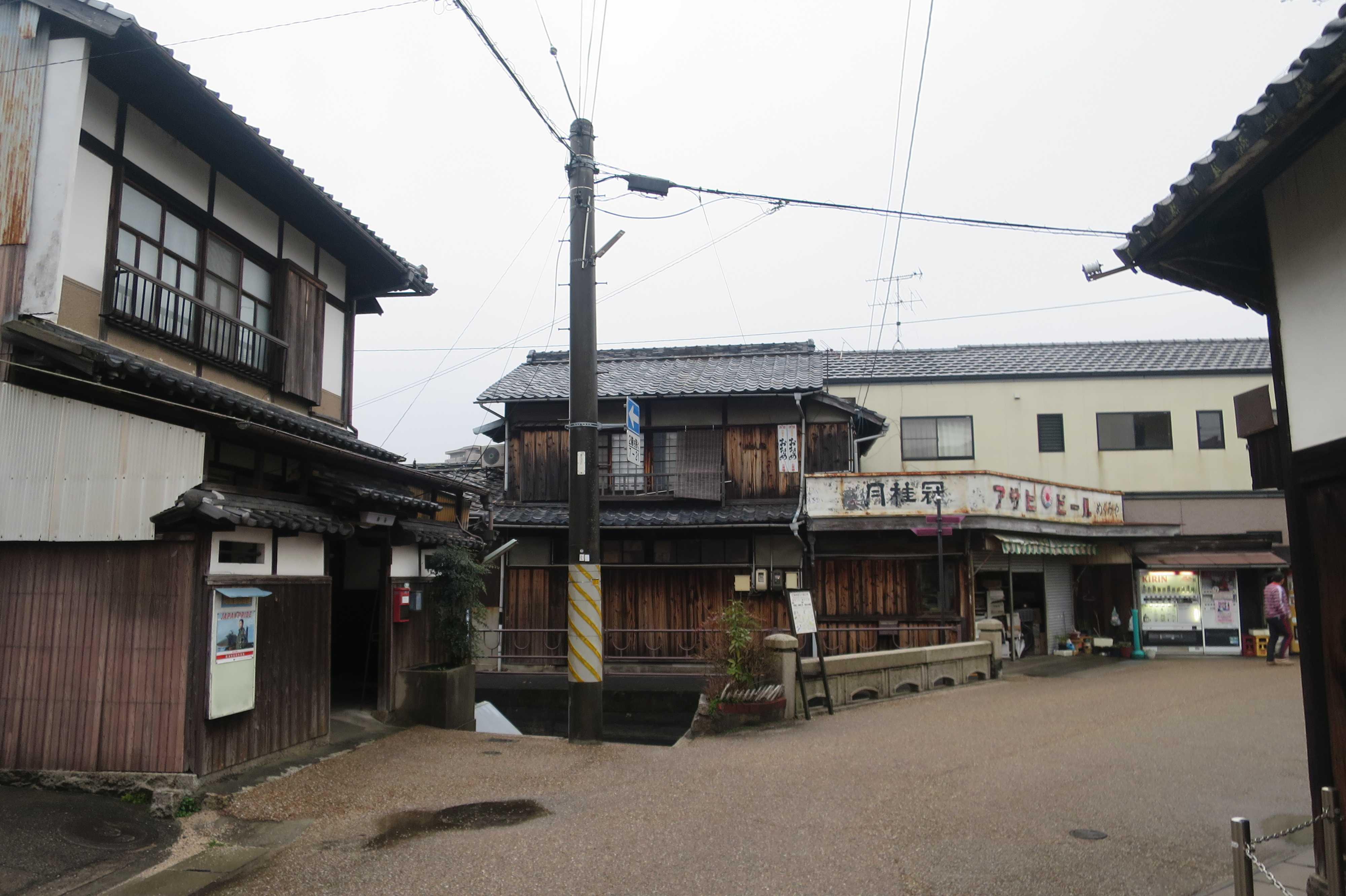 西大寺の古い町並み