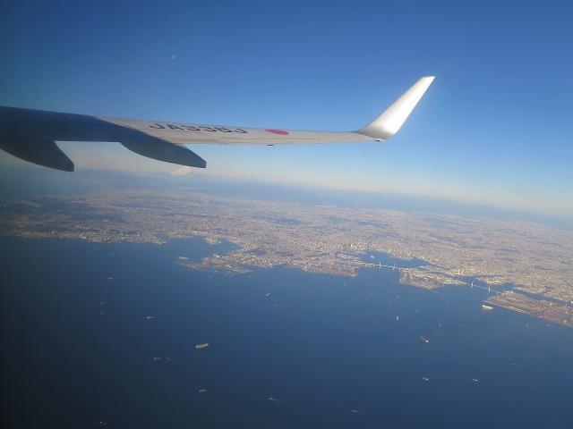 上空から見た東京湾