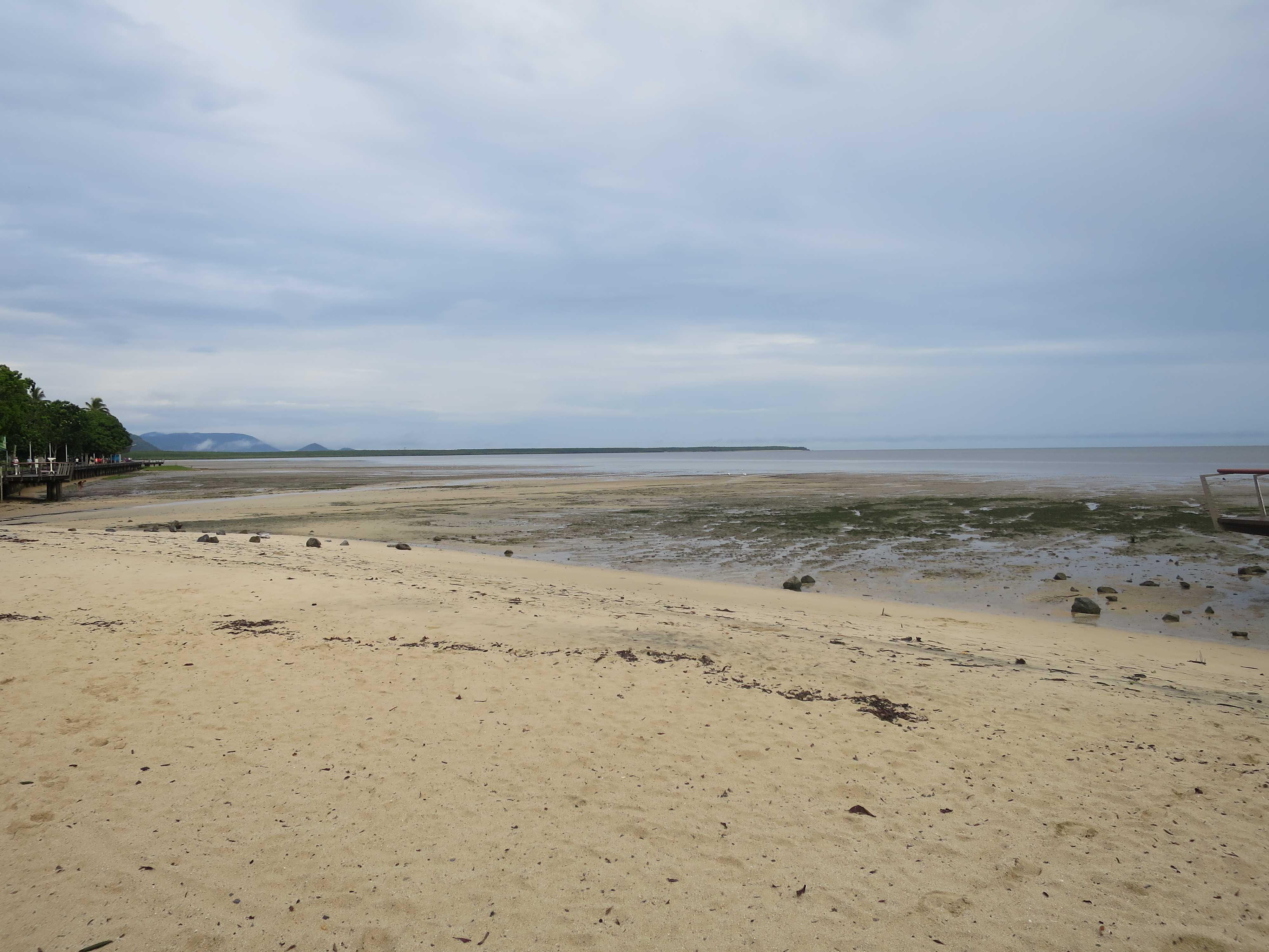 ケアンズの海岸 - 引き潮(干潮)