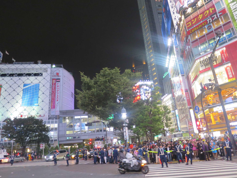 渋谷ハロウィーン - 深夜0時、渋谷の様子