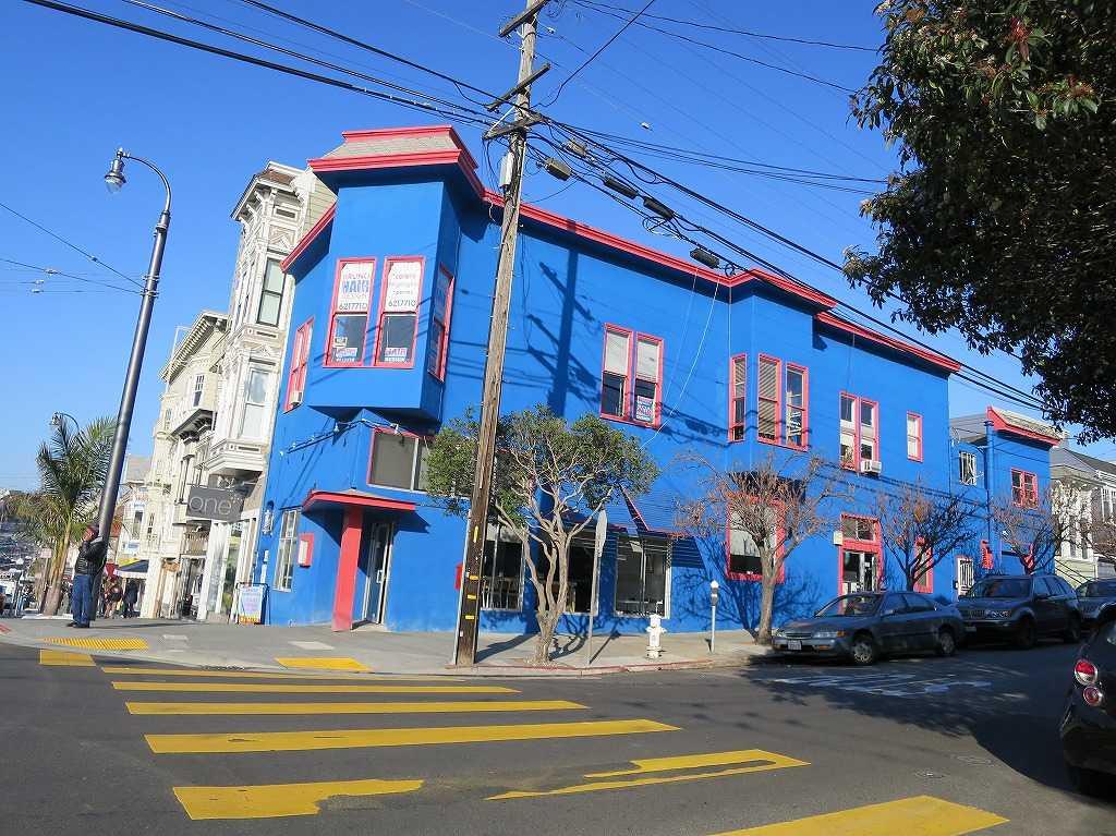 サンフランシスコ・カストロ地区 - 青い壁の建物
