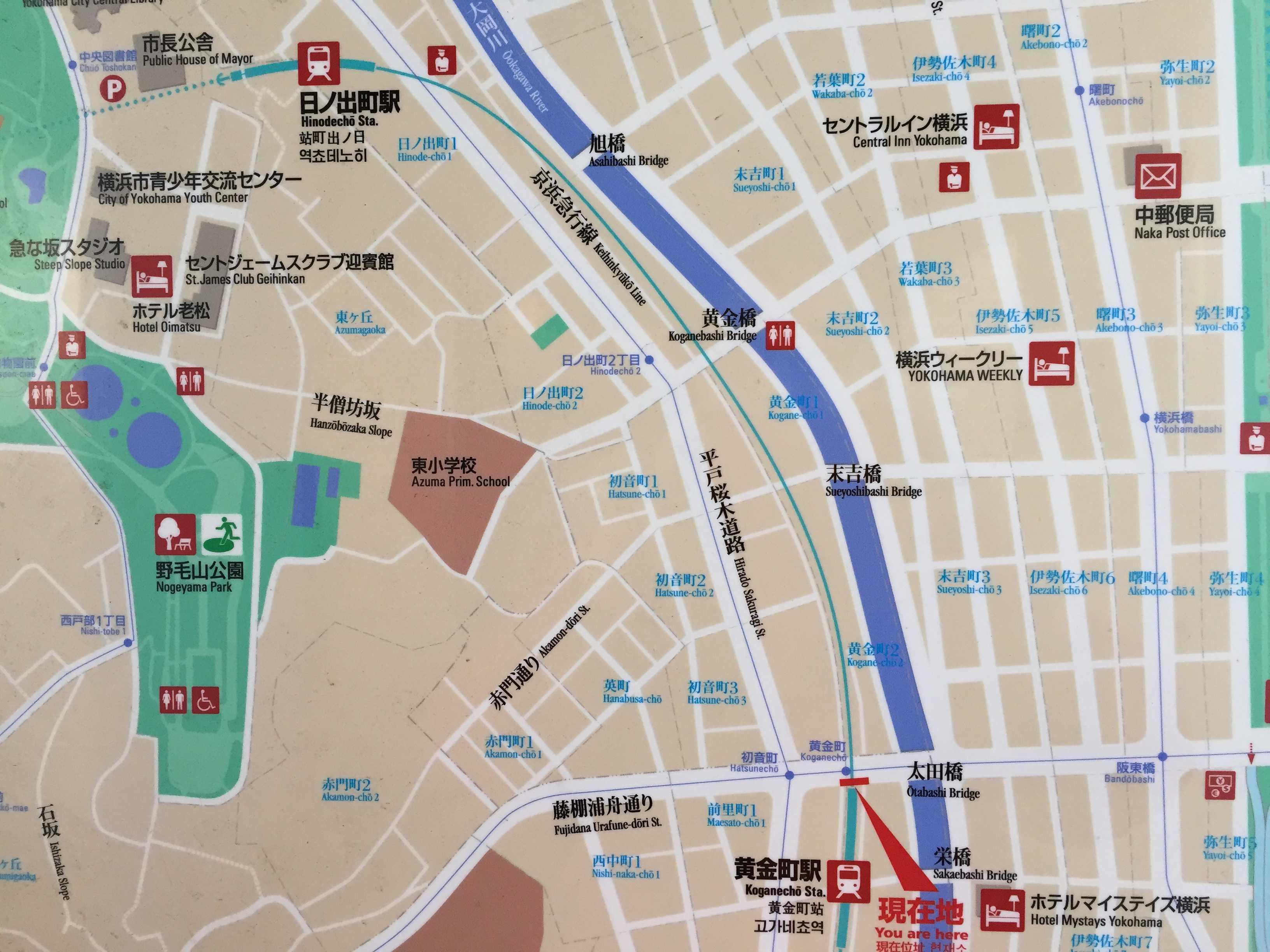 黄金町駅周辺地図