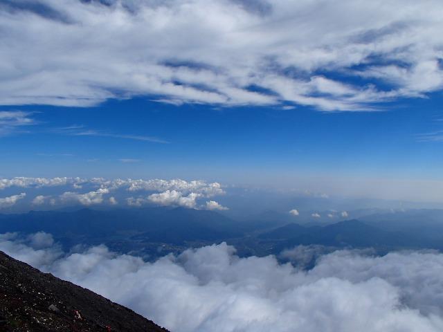 富士山頂からの眺め