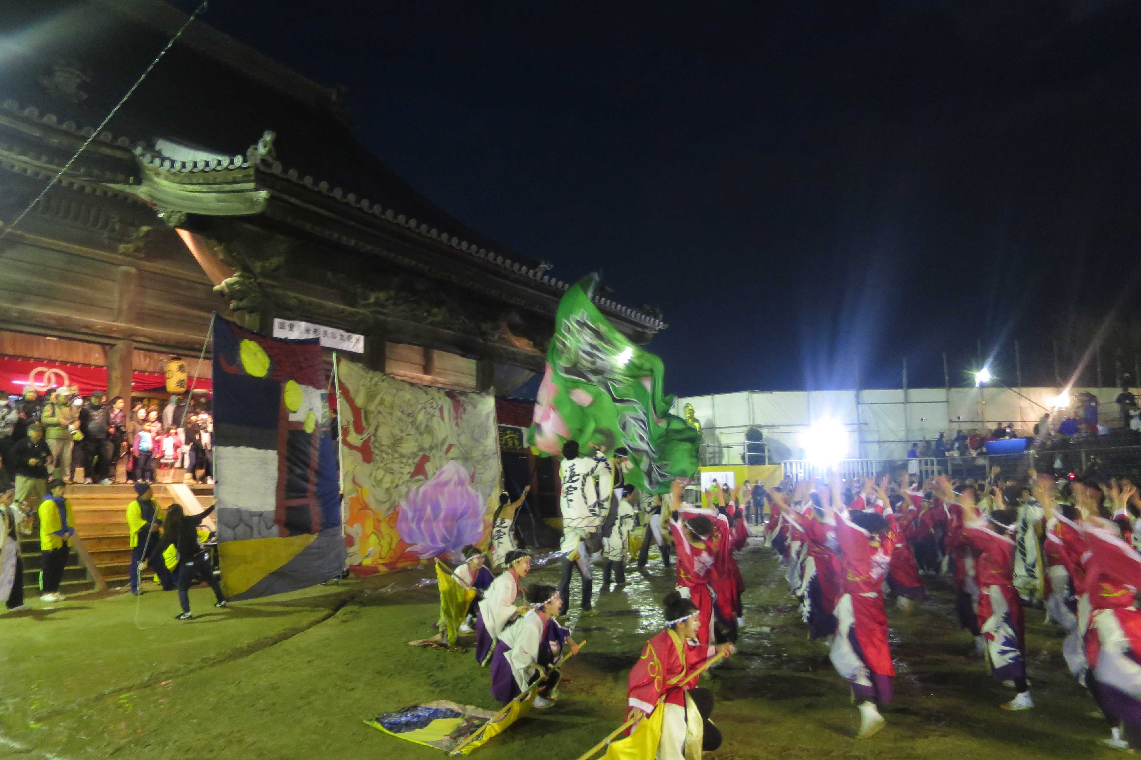 西大寺会陽 - 奉納演舞 うらじゃ踊り連「蓮雫(れんげ)」