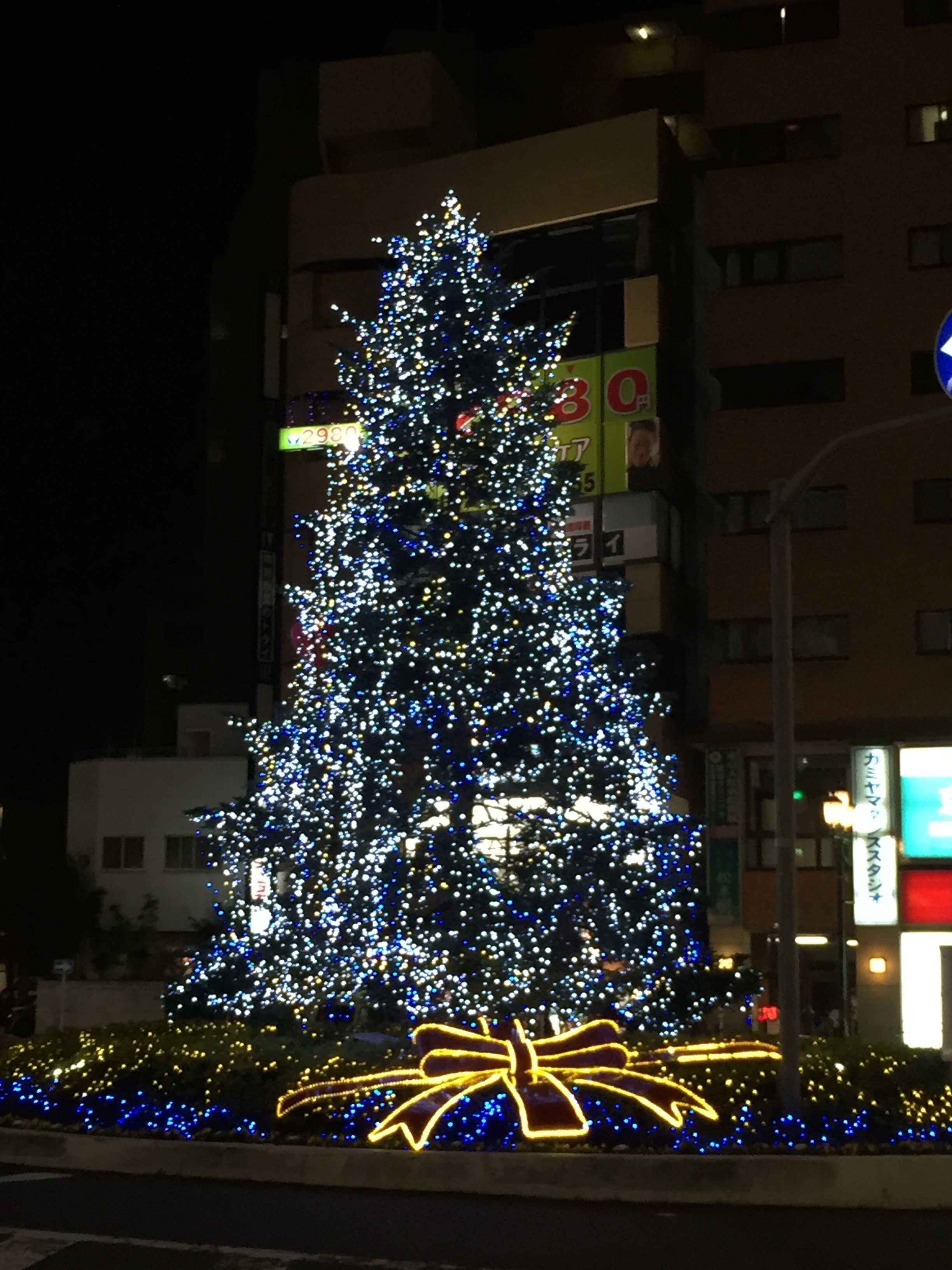 東京都八王子市・京王八王子駅前のクリスマスツリー