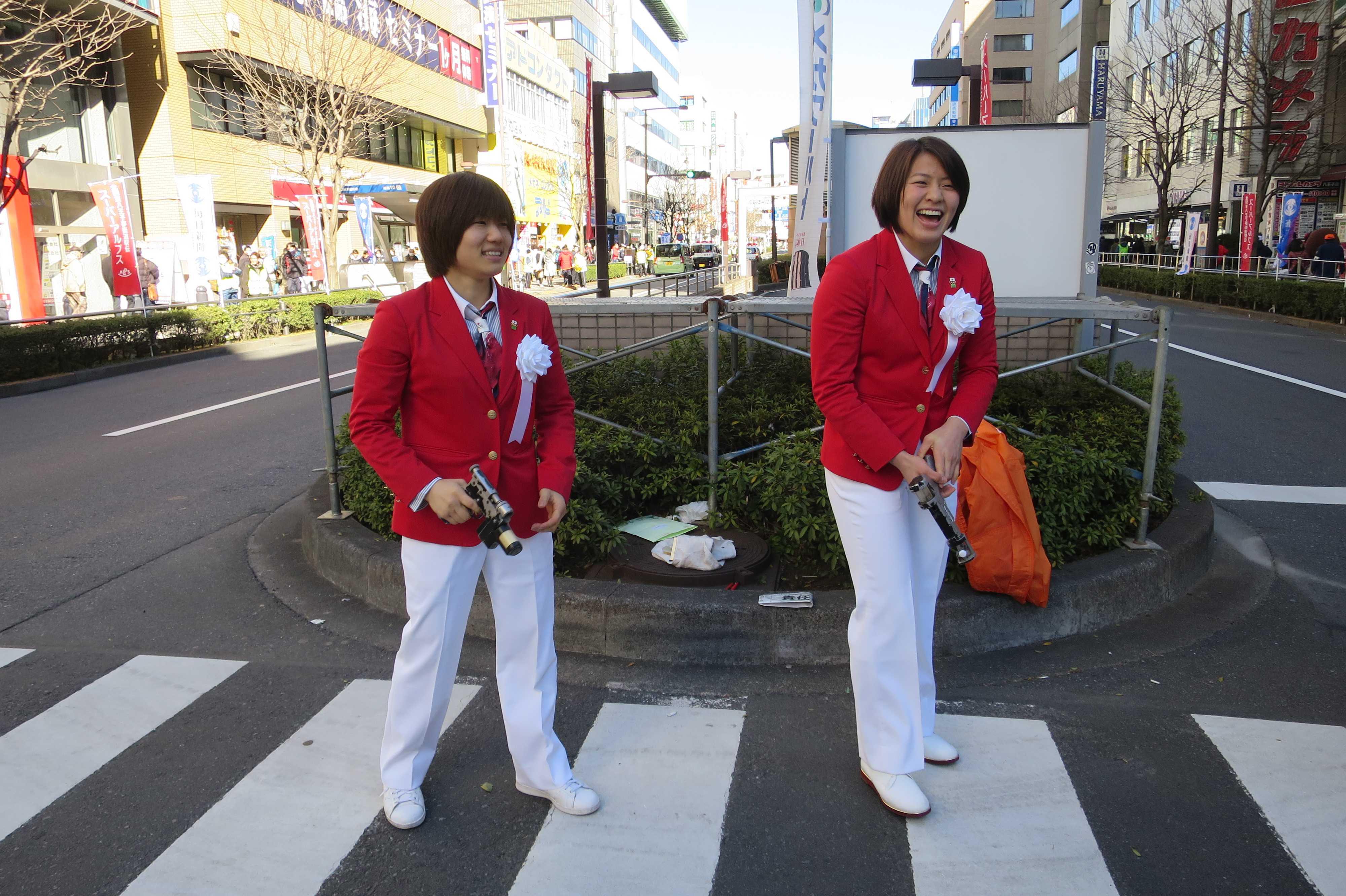 かわいい中村美里選手と田代未来選手
