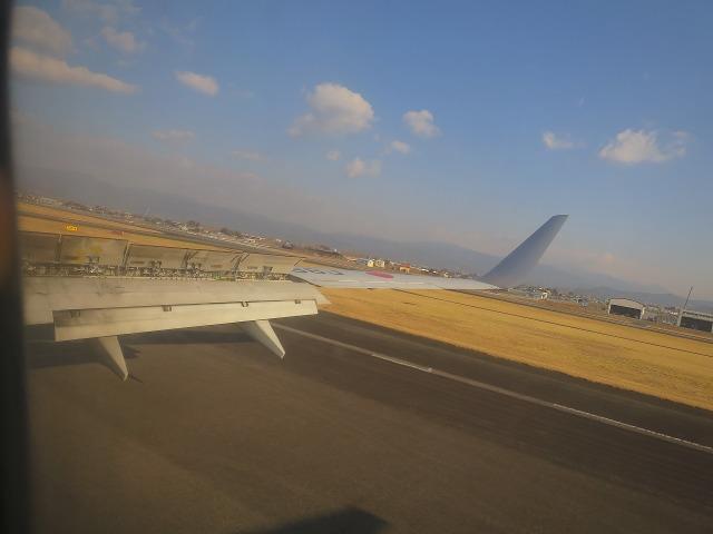 高知空港への着陸シーン