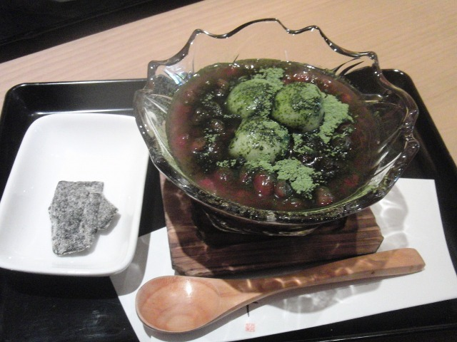 京都の抹茶小豆