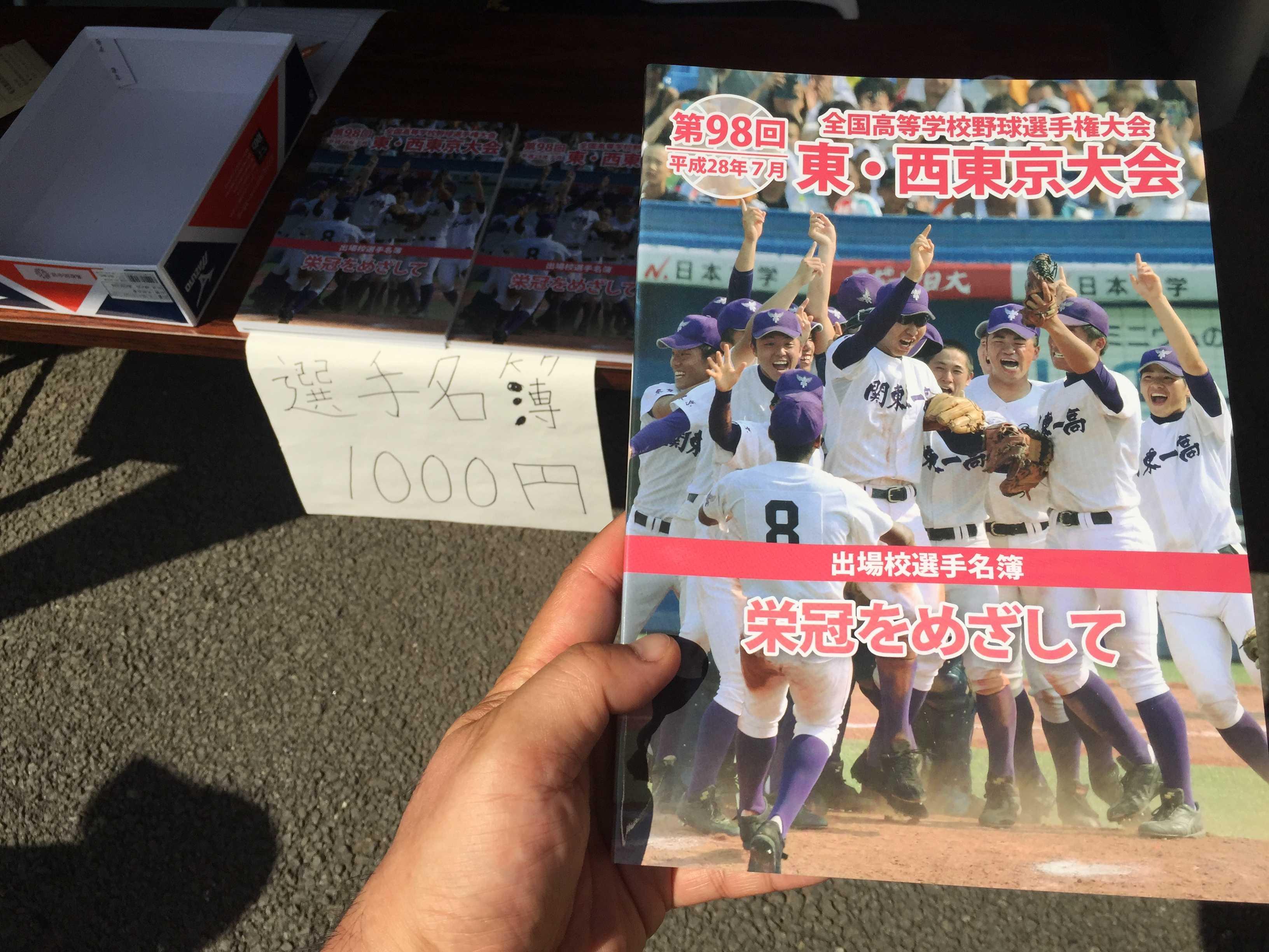 東・西大会 出場校選手名簿(1000円)