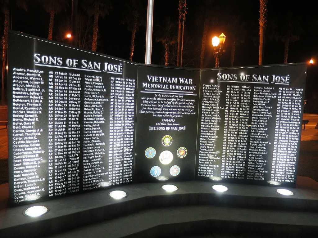 サンノゼ - ベトナム戦争記念碑 「サンノゼの息子たち」