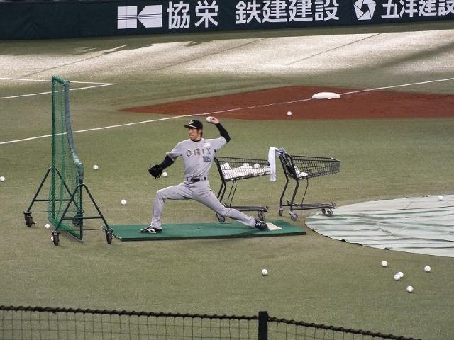 オリックスのバッティングピッチャー(打撃投手) 背番号105