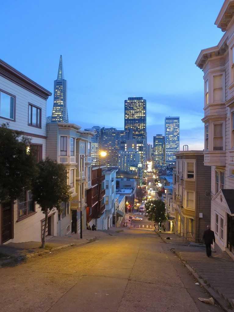 サンフランシスコのブルーアワー