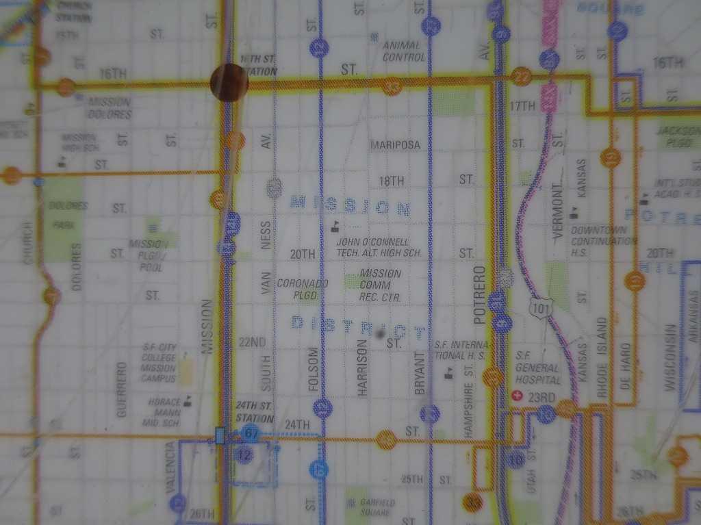 ミッション地区(MISSION DISTRICT)地図 - サンフランシスコ