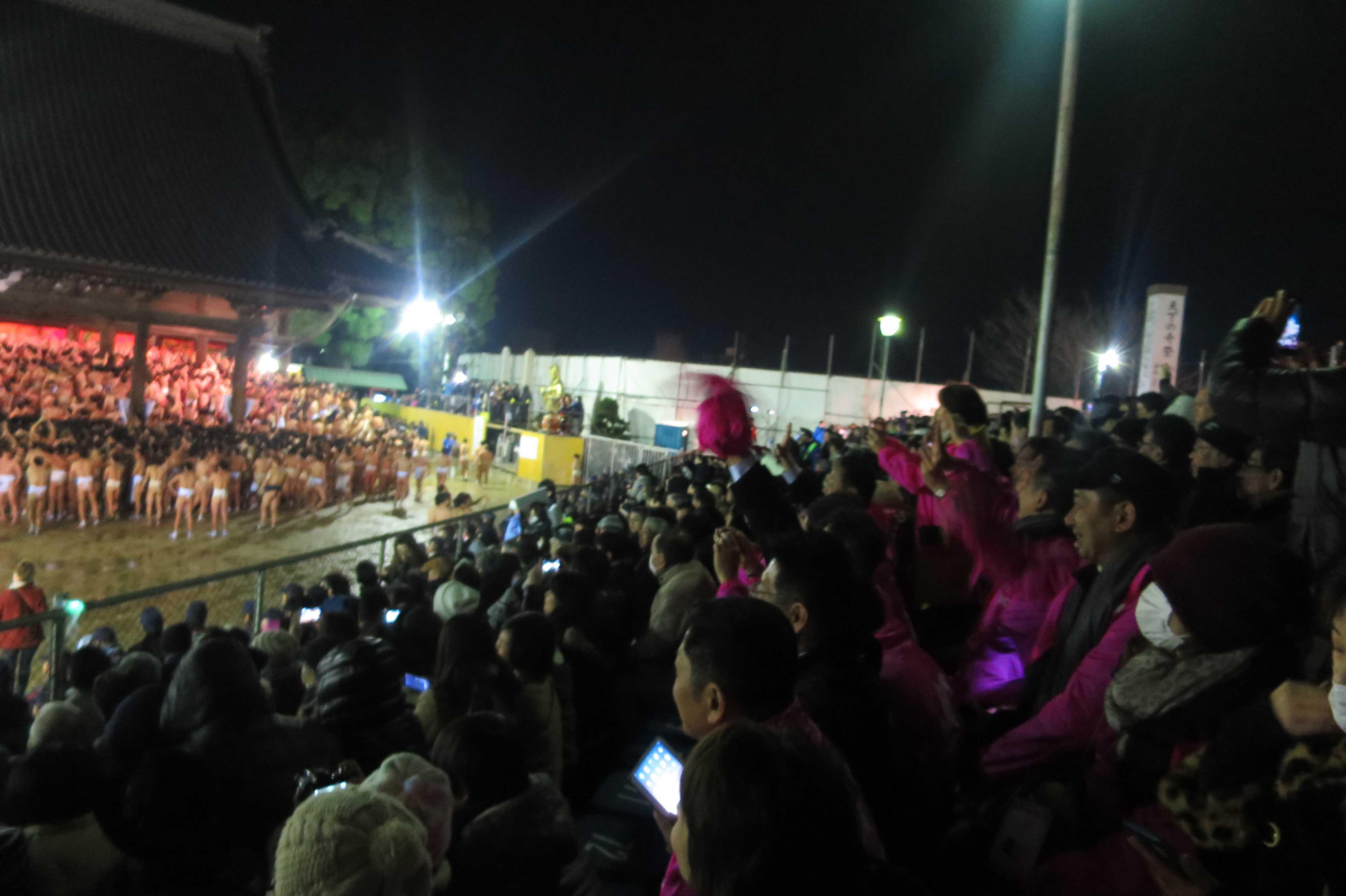 西大寺会陽 - 特別観覧席満員
