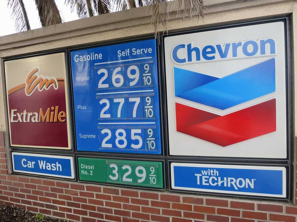 レッドウッドシティ - ガソリンの値段