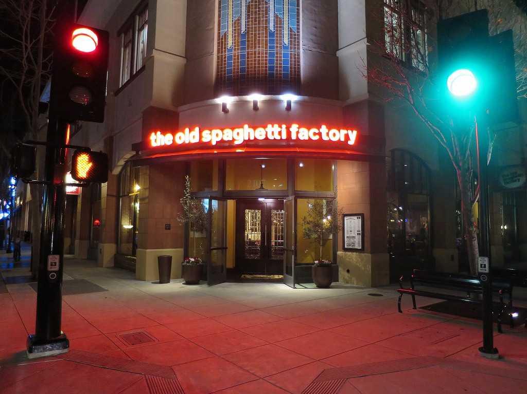 レッドウッドシティのスパゲティー屋さん