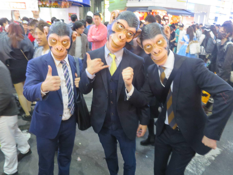 渋谷ハロウィン - サルのサラリーマン