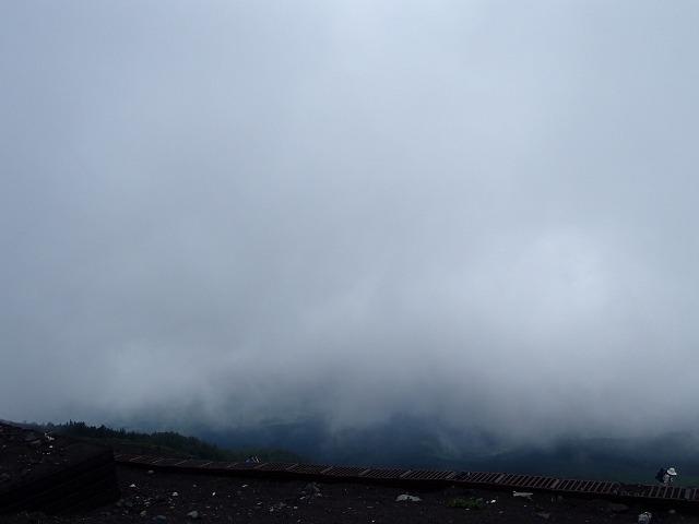 富士山の霧