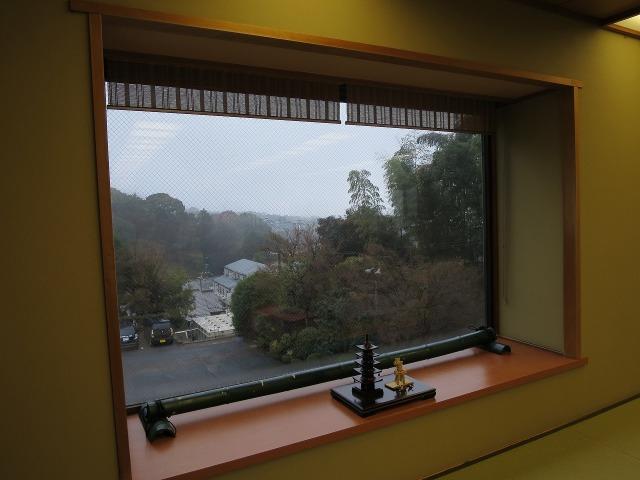 ホテルりょうぜんの朝食会場からの眺め