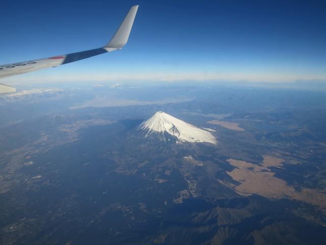 冬の青空と富士山