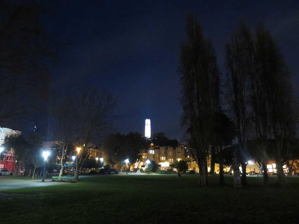 ワシントン広場広場から見たコイトタワー