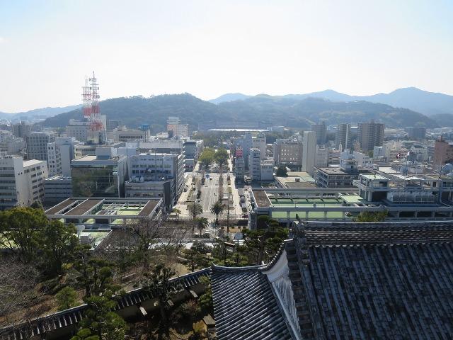 高知城から見えた高知市内