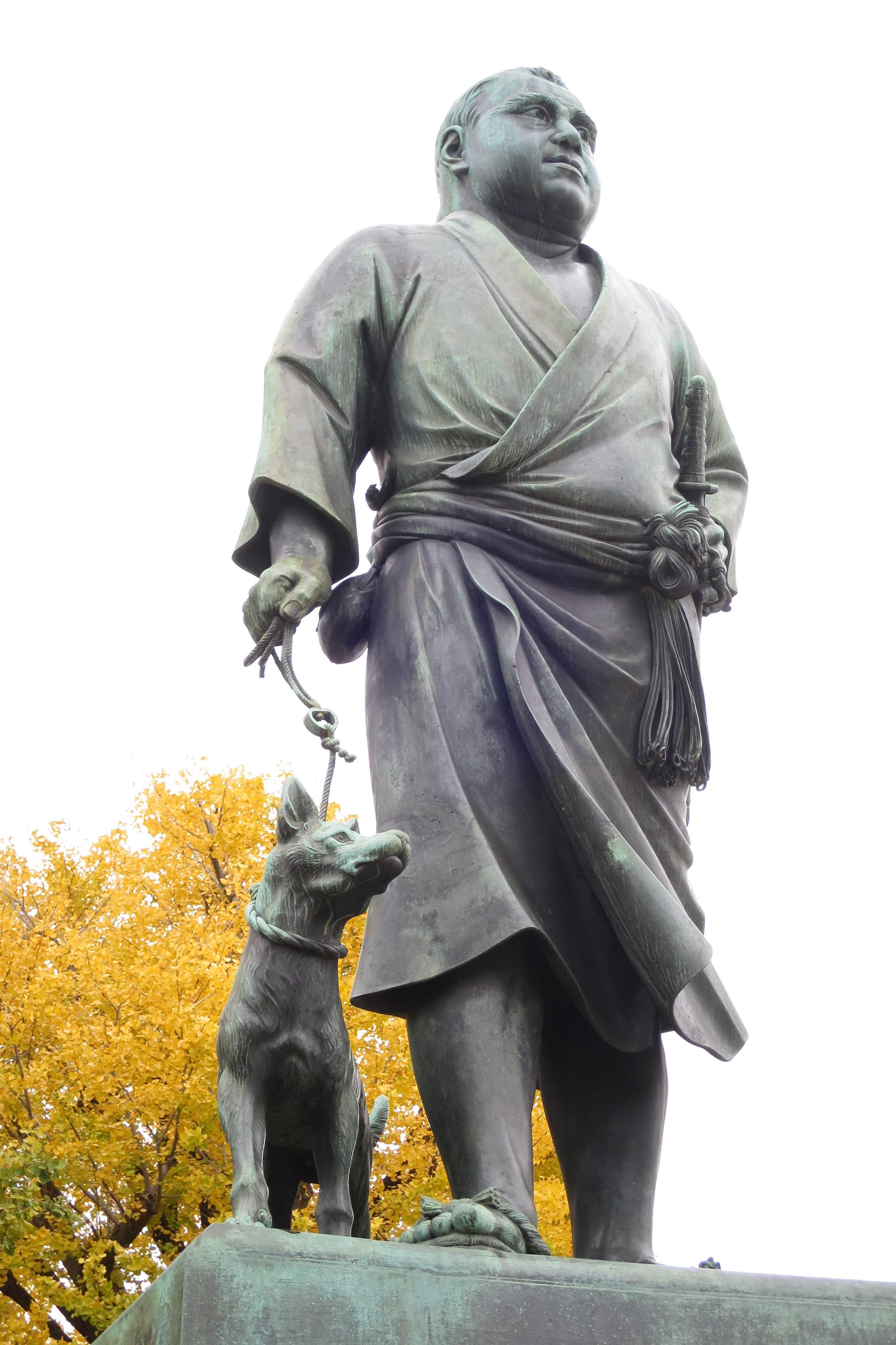 西郷(せご)どんの銅像 - 上野公園