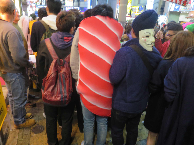 渋谷ハロウィン - 寿司ネタのトロ