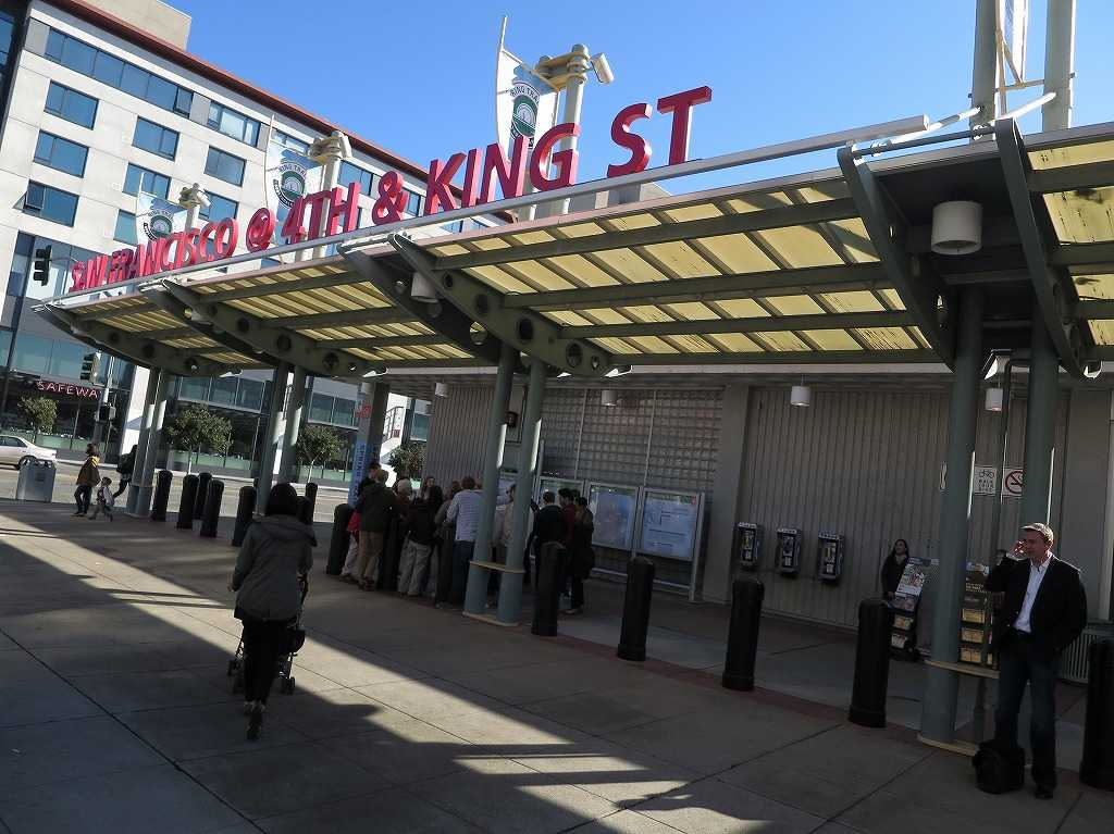 カルトレインの始発駅「サンフランシスコ 4番&キングストリート駅(4th & King Street, San Francisco Station)」