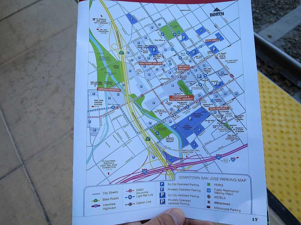サンノゼの市街図