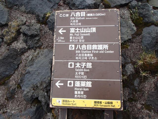 富士山 八合目