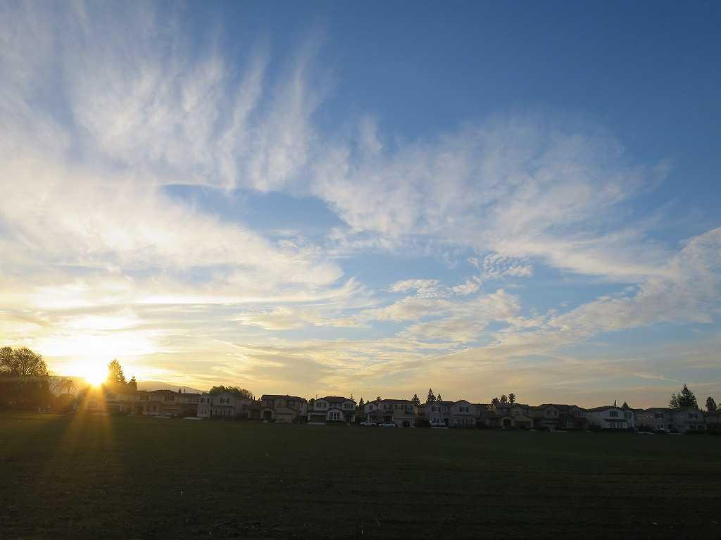 ローレンス・エクスプレスウェイから見た夕陽