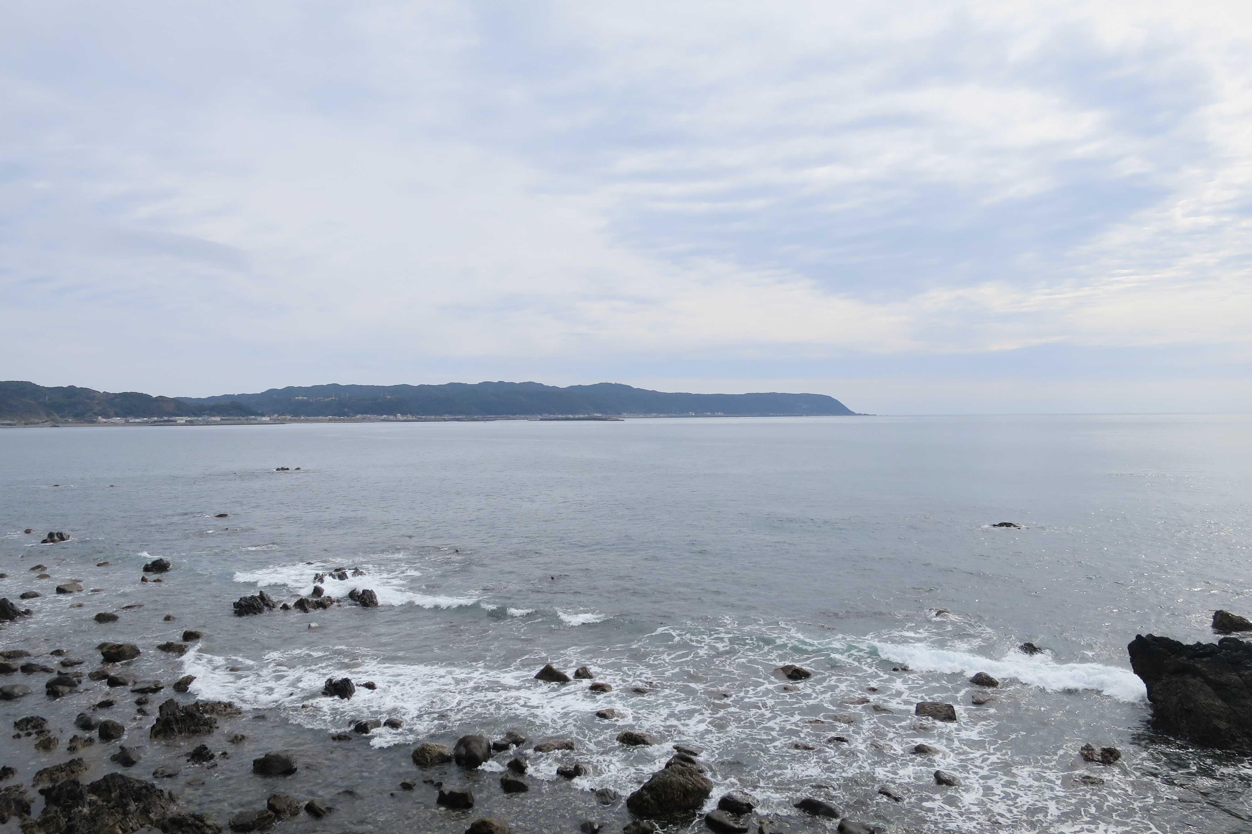 行当岬から見えた室戸半島