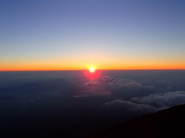 富士山のご来光(2015年7月29日)