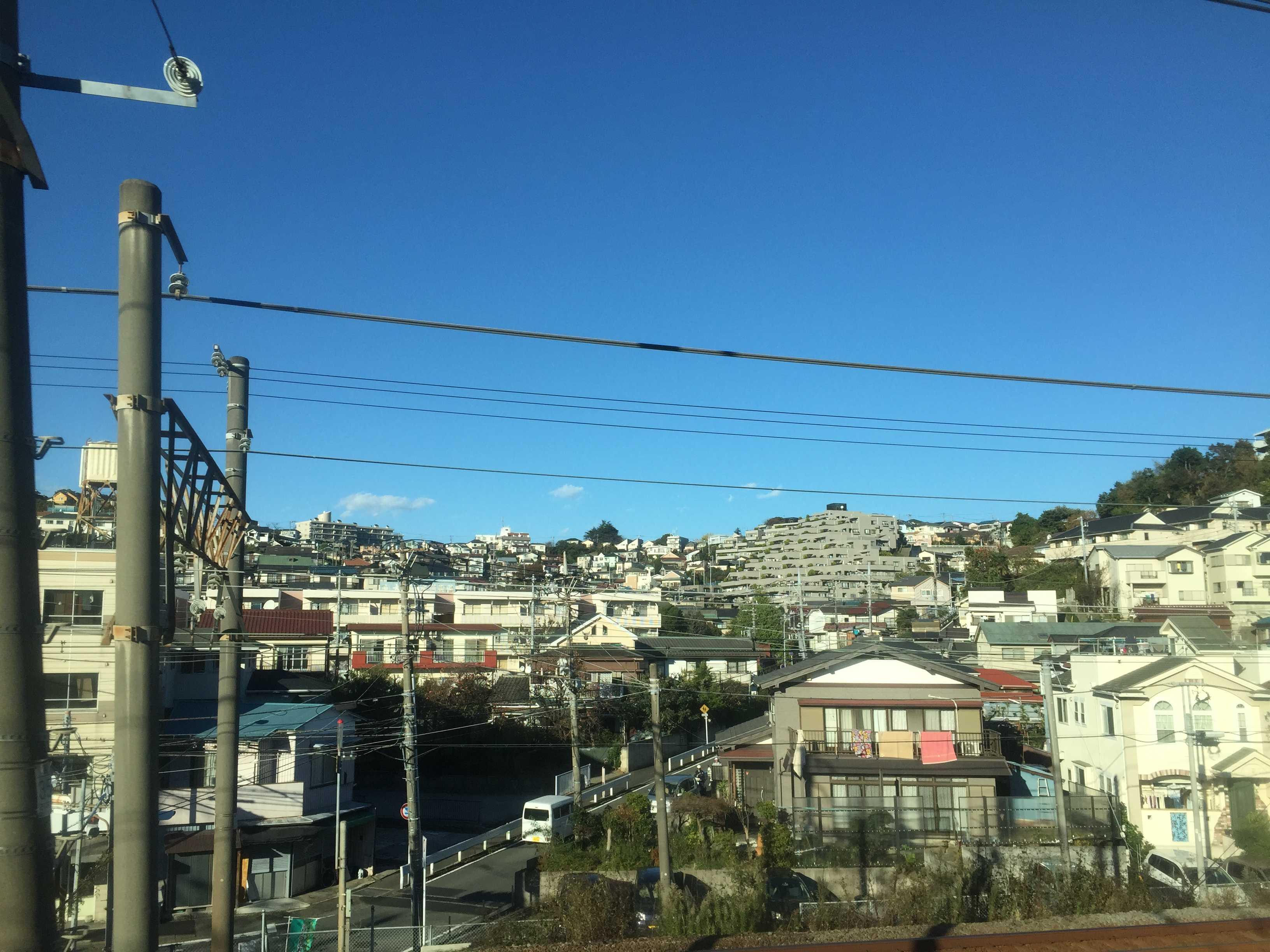 JR東海道線 上野東京ラインの車窓