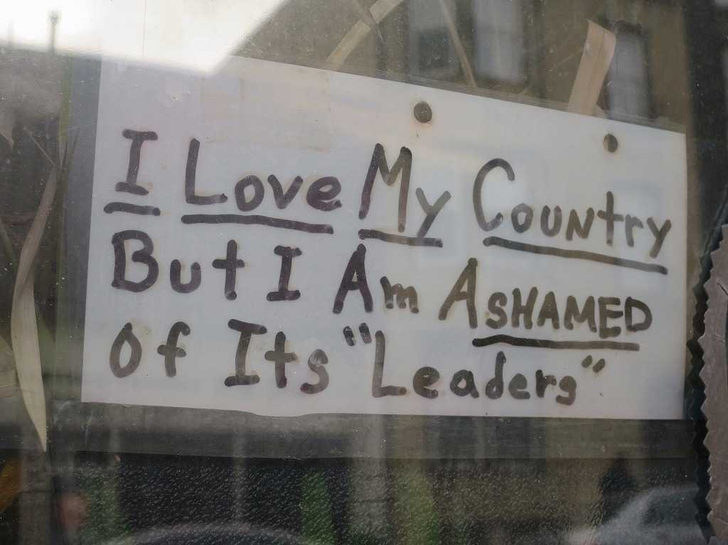 I Love My Country But I Am Ashamed of Its