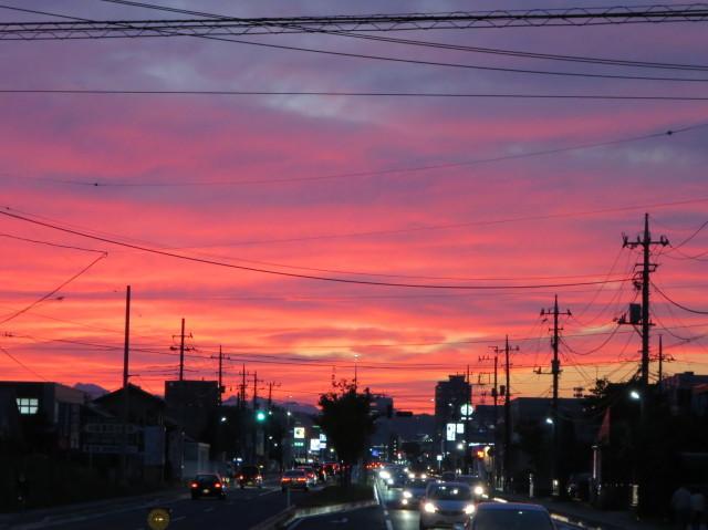 高崎市の夕焼け