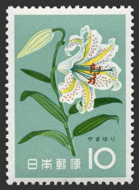 山百合(山ユリ)の切手