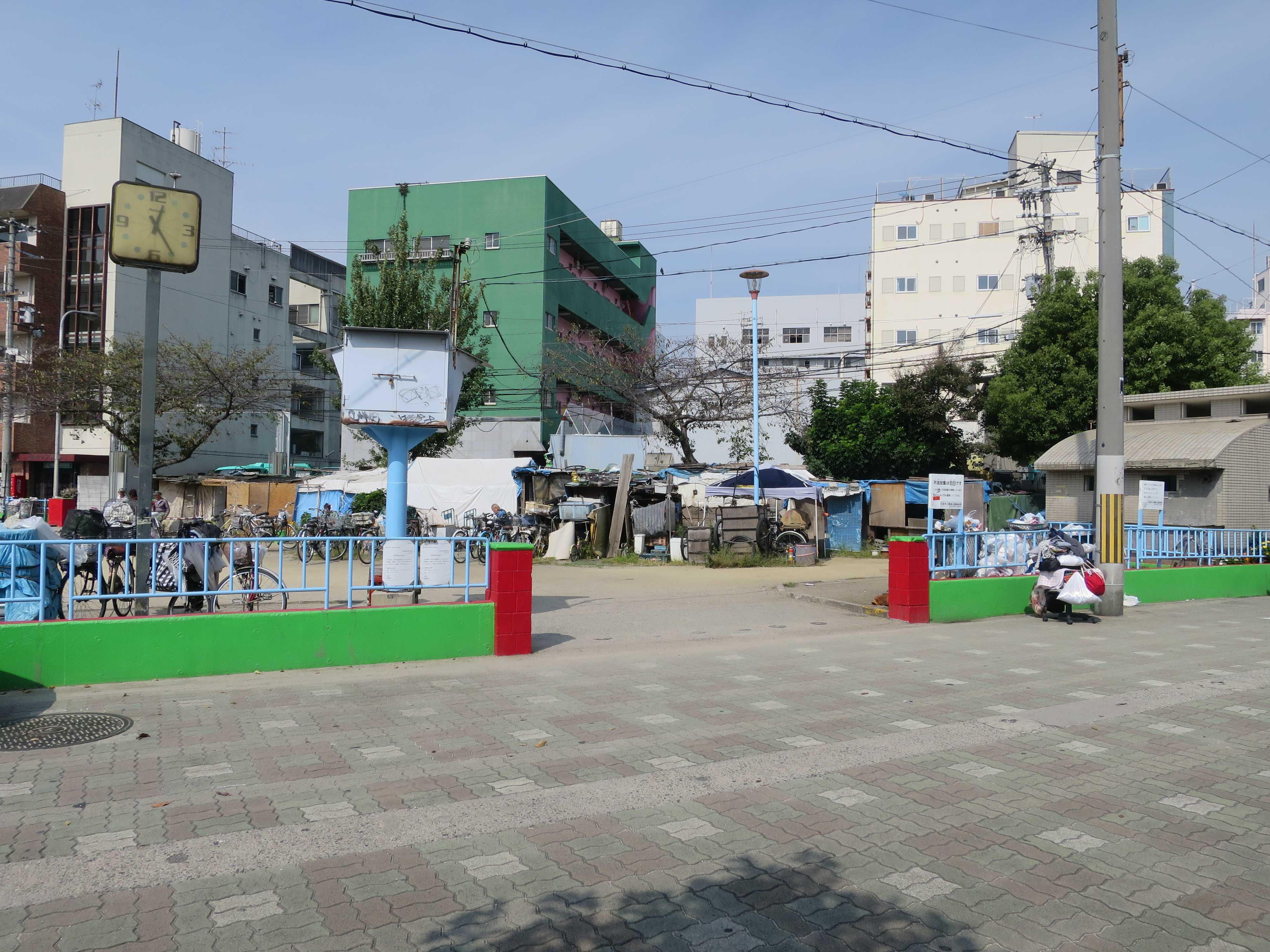 あいりん地区 三角公園(萩之茶屋南公園)