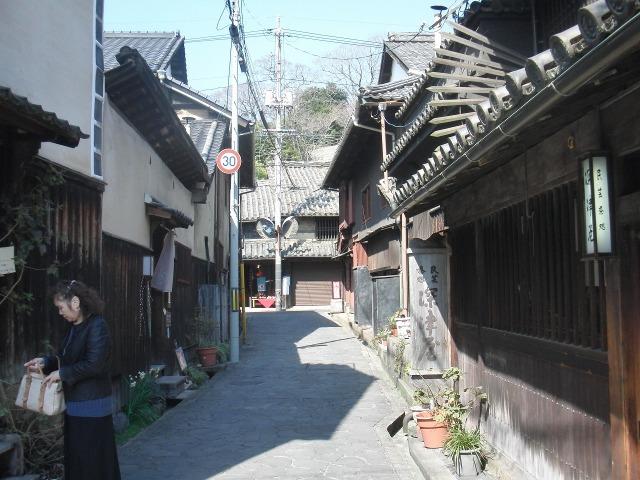 鞆・太田家住宅前の通り