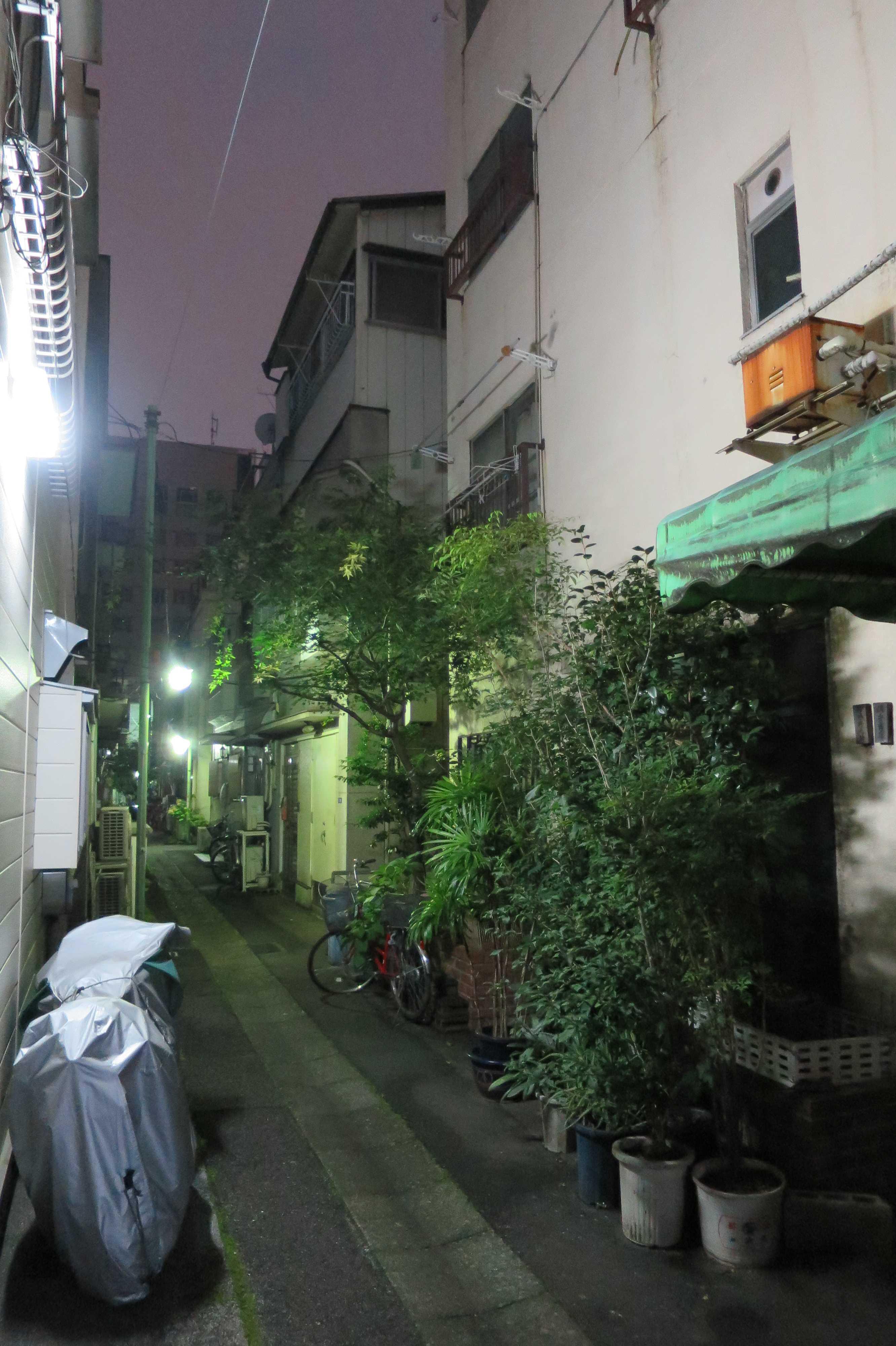 築地エリア - 朝 5時過ぎの築地の路地