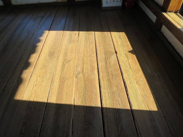 高知城天守閣の床