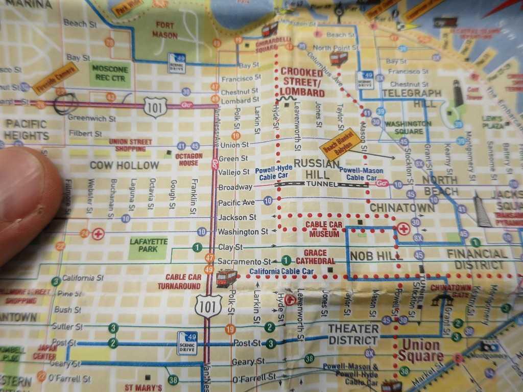サンフランシスコ - ミュニバスの路線図