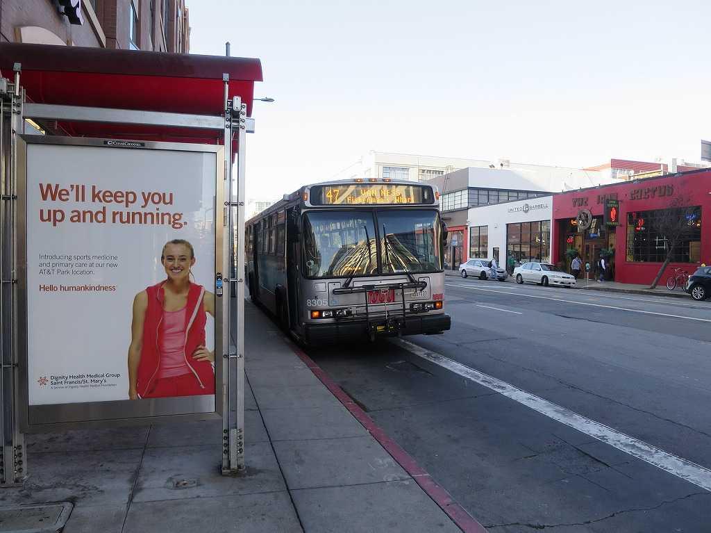 サンフランシスコのバス「ミュニバス」