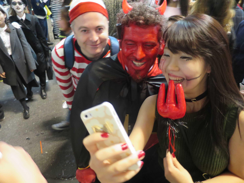 渋谷ハロウィーン - 赤鬼