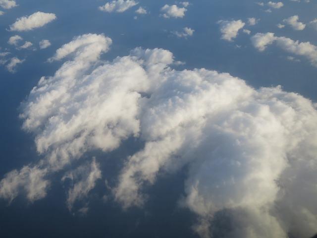 飛行機から見えた景色