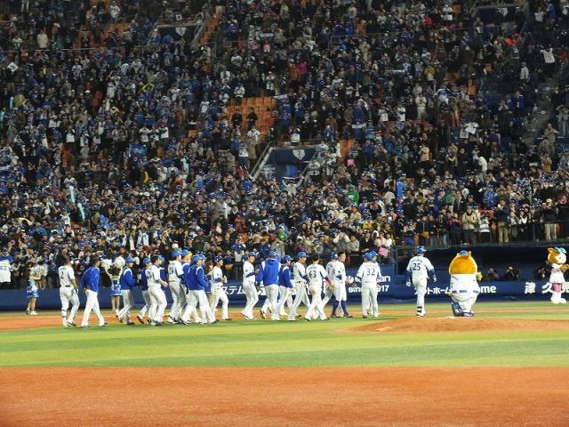 サヨナラ勝ち、横浜ベイスターズの選手達